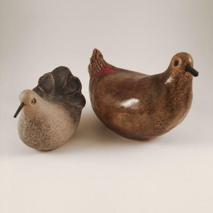 2 ceramics birds by G. Olivier