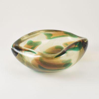 Murano bowl Archimede Seguso macchie ambre verde_0
