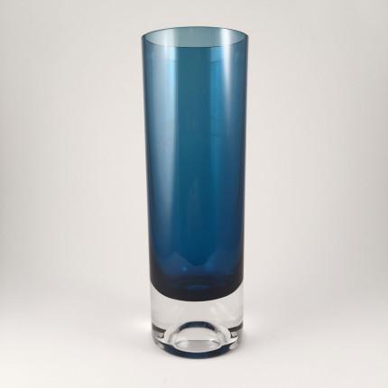 Kaj Franck blue vase for Nuutajarvi Notsjo, Finland