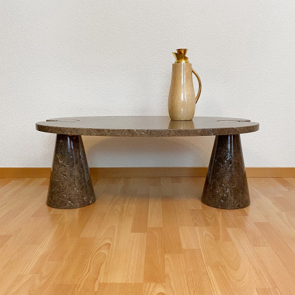 """marble low table """"Eros"""" P72 by Angelo Mangiarotti"""