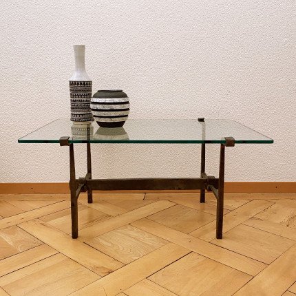 Vintage brutalist table wrought iron