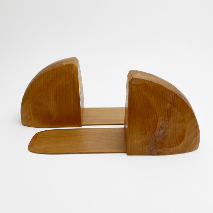 Anthroposophical wooden bookends