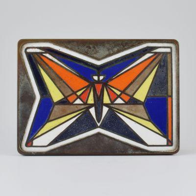 Enamel butterfly door handel_0