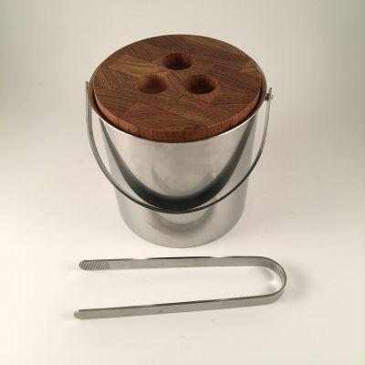 Ice bucket with tongs Arne Jacobsen for Stelton_0