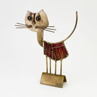 Sculpture of a cat by french artist Jarc_0