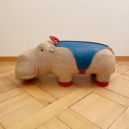 Large therapeutic toy hippopotame by Renate Müller