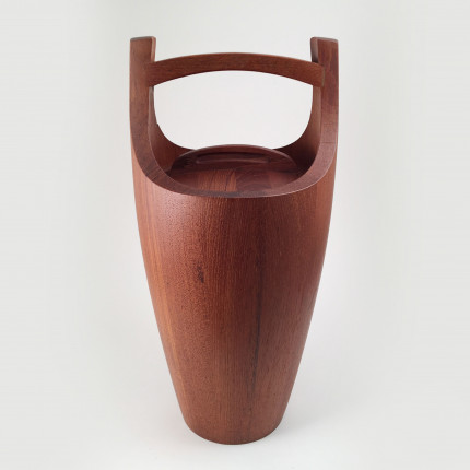 Wood ice bucket designed by Jens Quistgaard